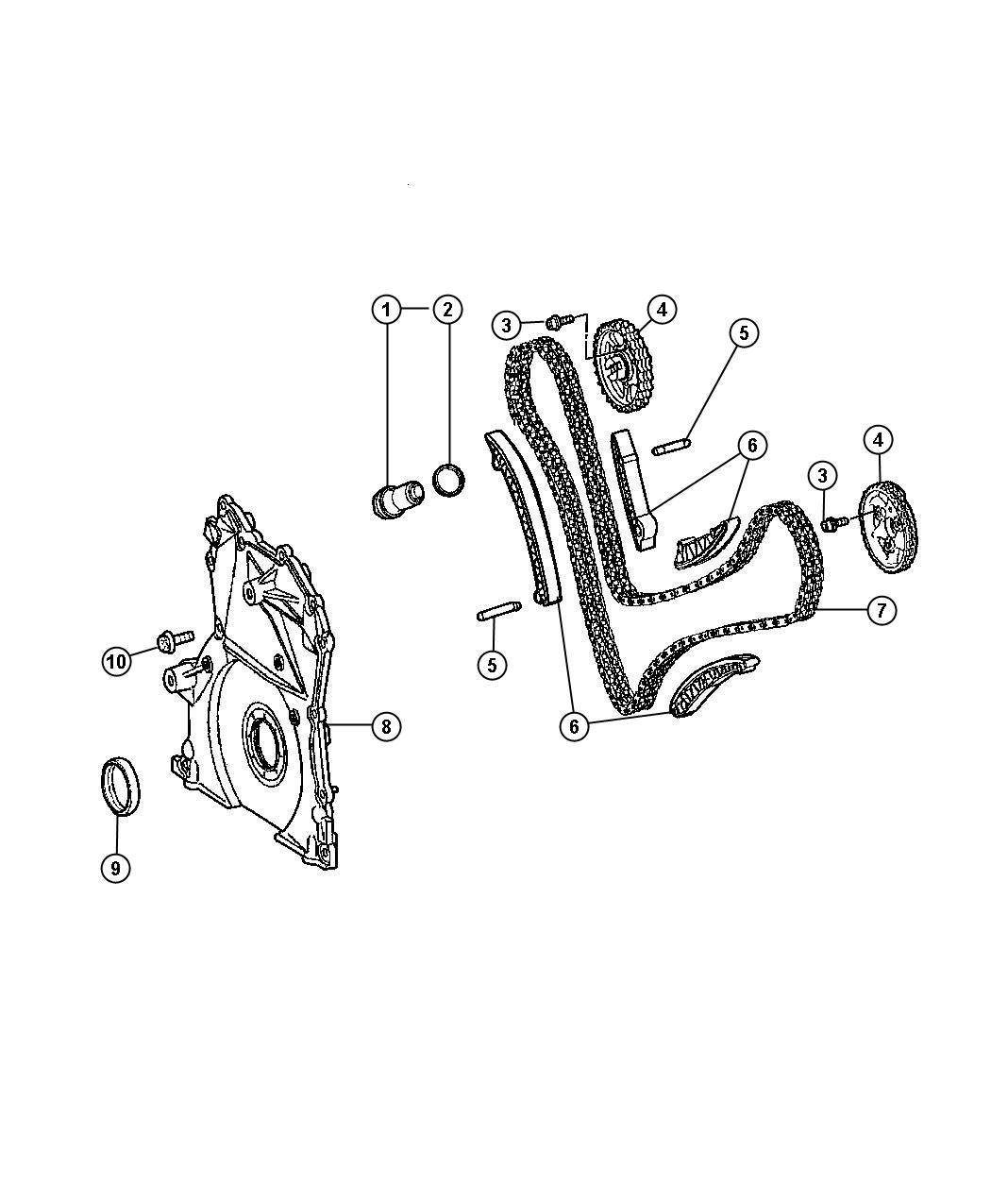 Jeep Grand Cherokee Chain Timingsel Engine
