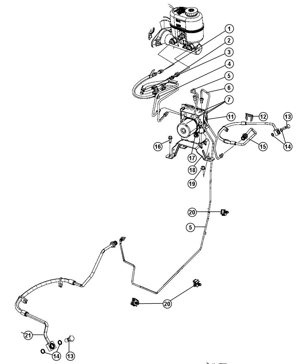 Chrysler Aspen Control Unit Anti Lock Brake Anti Lock 4