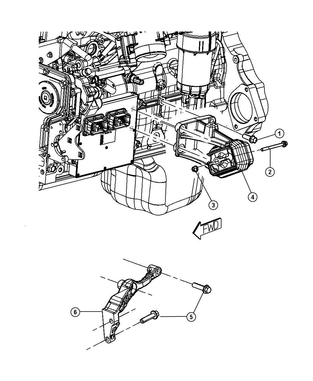 Dodge Ram Bracket Engine Mount Left Left Side