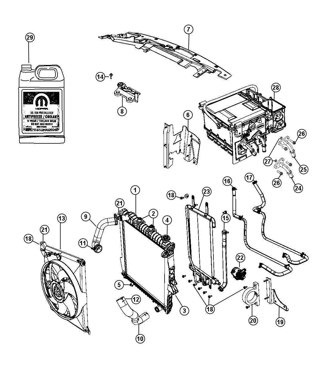 Chrysler Aspen Radiator Engine Cooling Maintenance