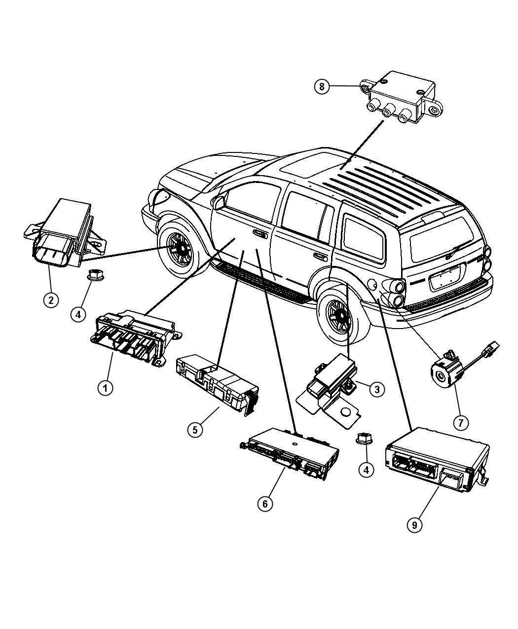 Dodge Durango Module Tire Pressure Monitoring Front