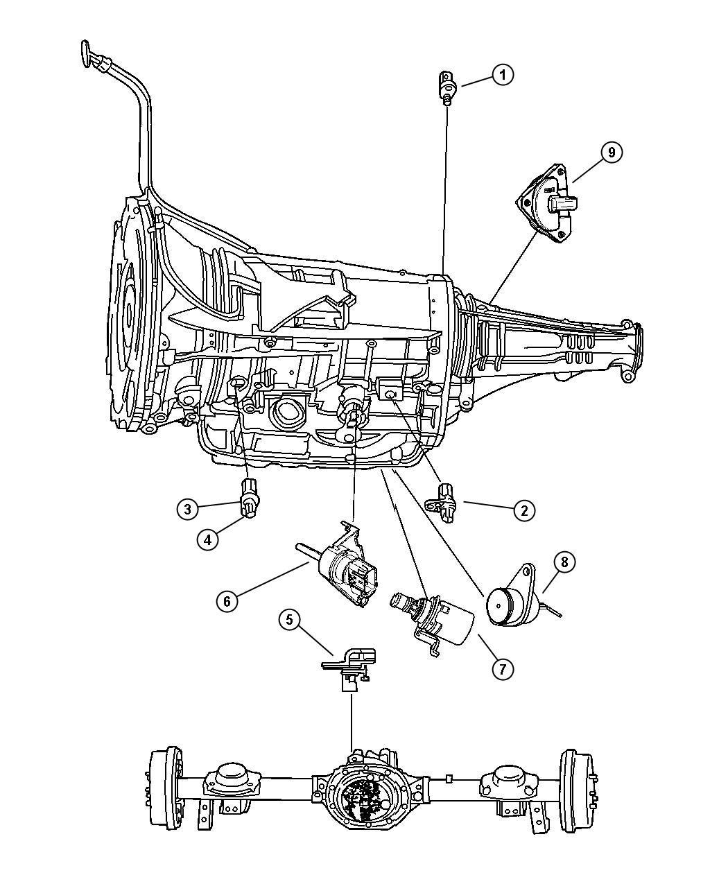 Dodge Durango Sensor Solenoid Trans Variable Force