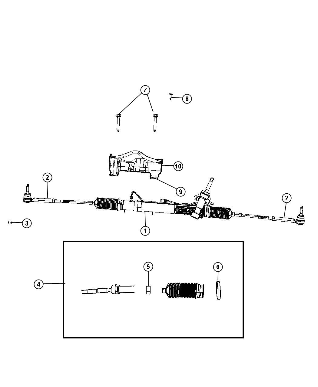 Dodge Grand Caravan Gear Used For Rack And Pinion