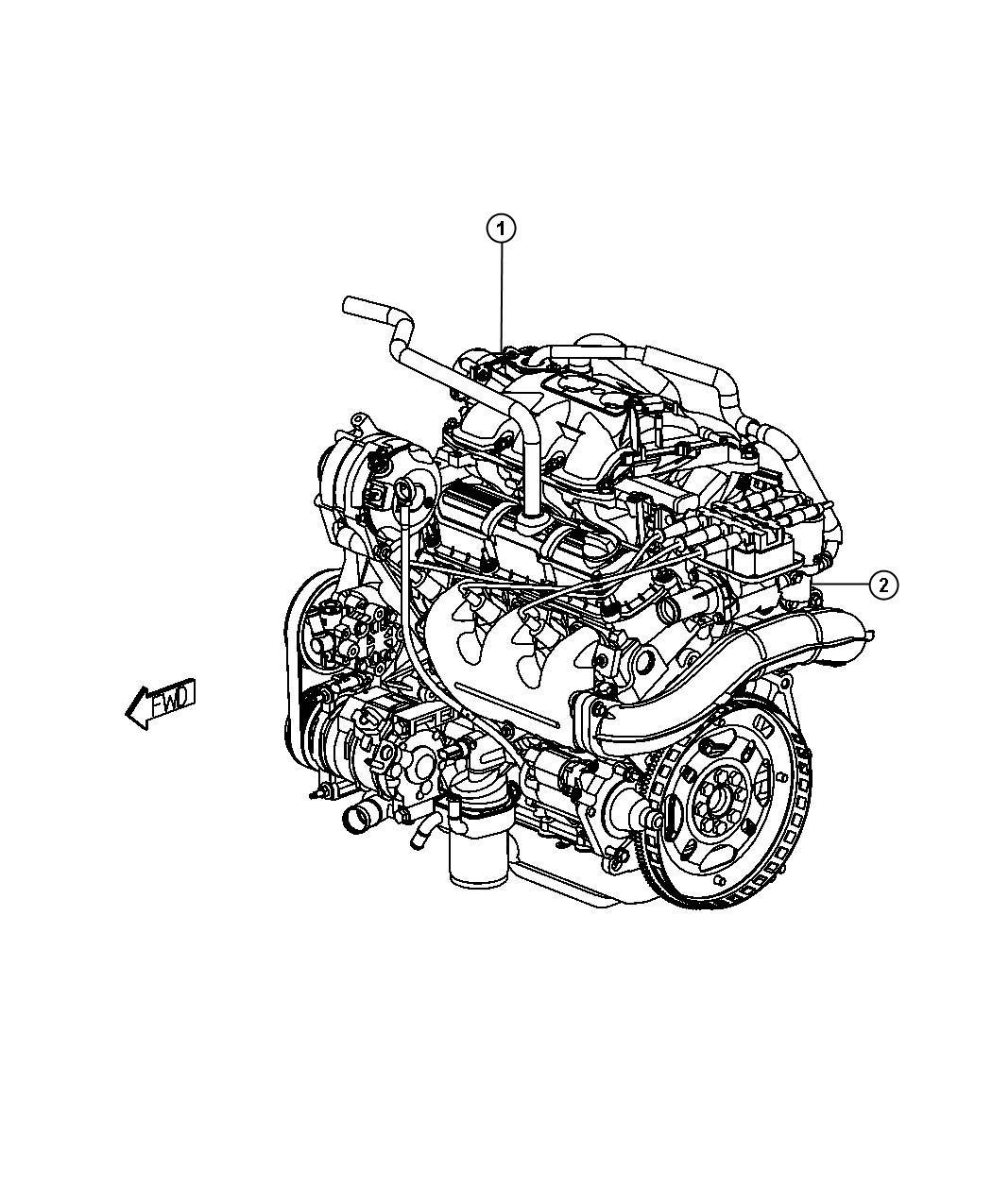 Dodge Grand Caravan Engine Long Block Remanufactured Service Ohv Cylinder