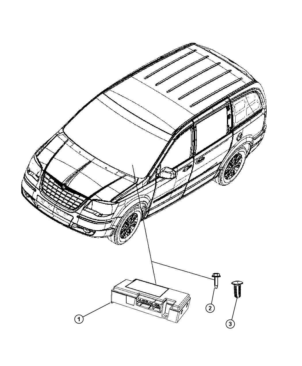 Chrysler Town Amp Country Module Telematics Hfm Those