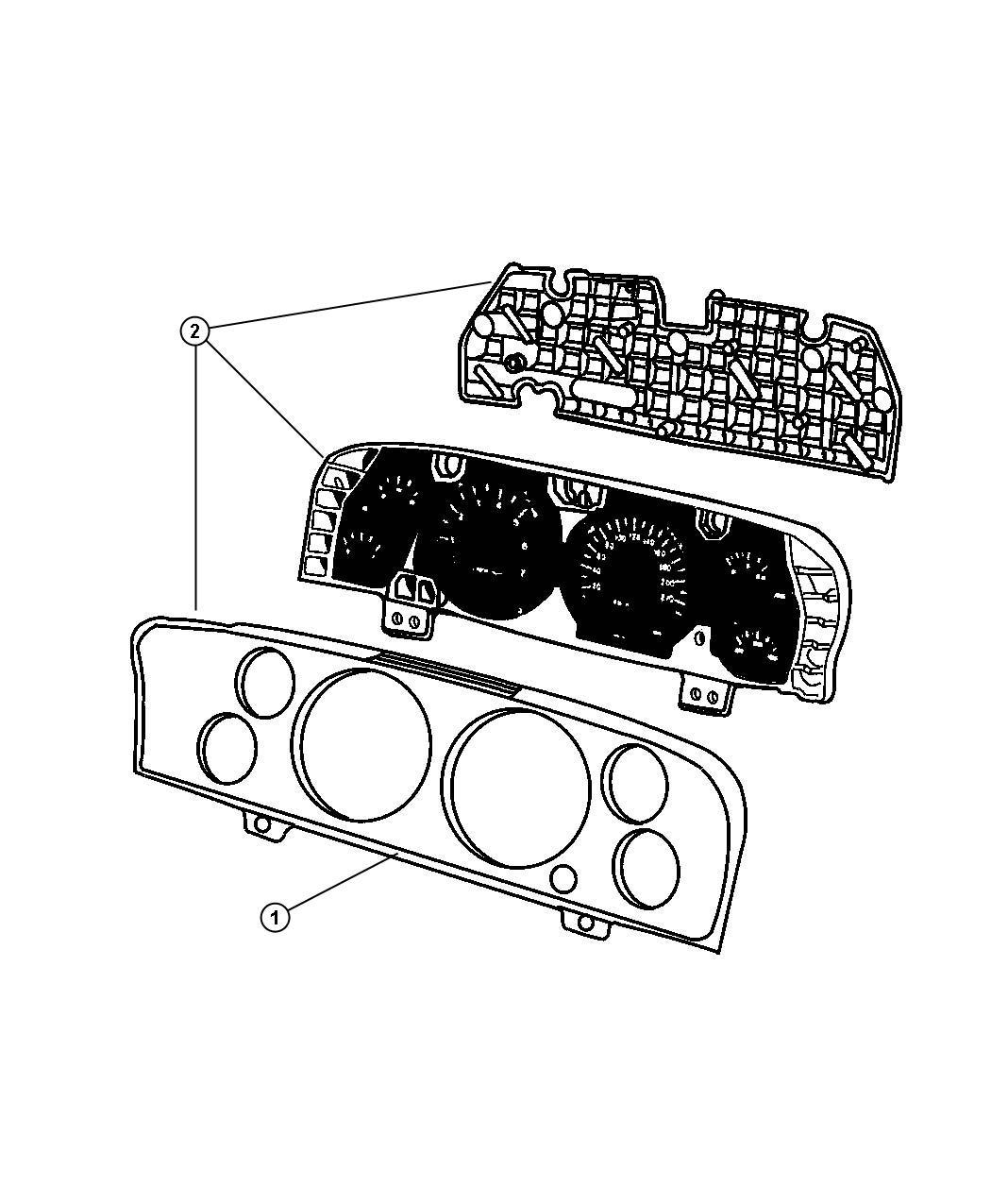 Jeep Grand Cherokee Cluster Instrument Panel 240 Kph Primary Speedometer