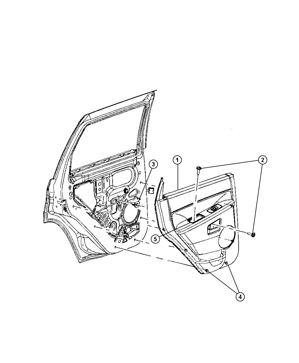 Jeep Grand Cherokee Panel Rear Door Trim Left Trim