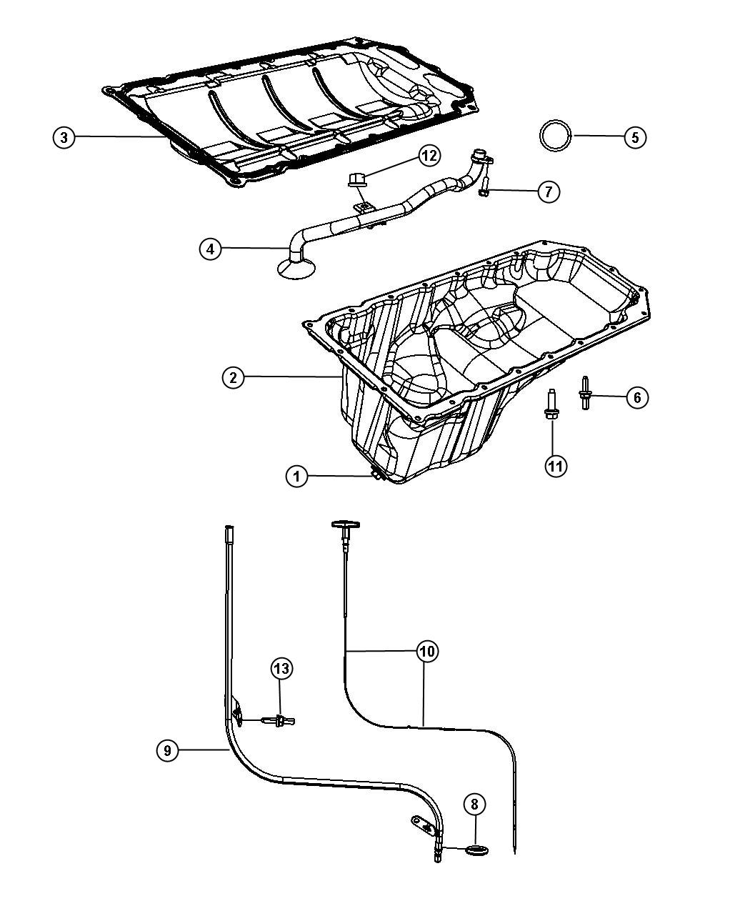 Jeep Grand Cherokee Tube Engine Oil Indicator Esf
