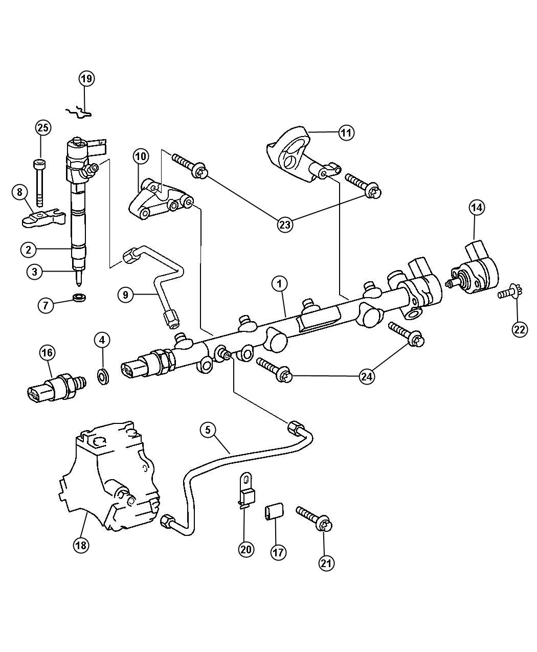 Dodge Sprinter Bracket Fuel Rail System
