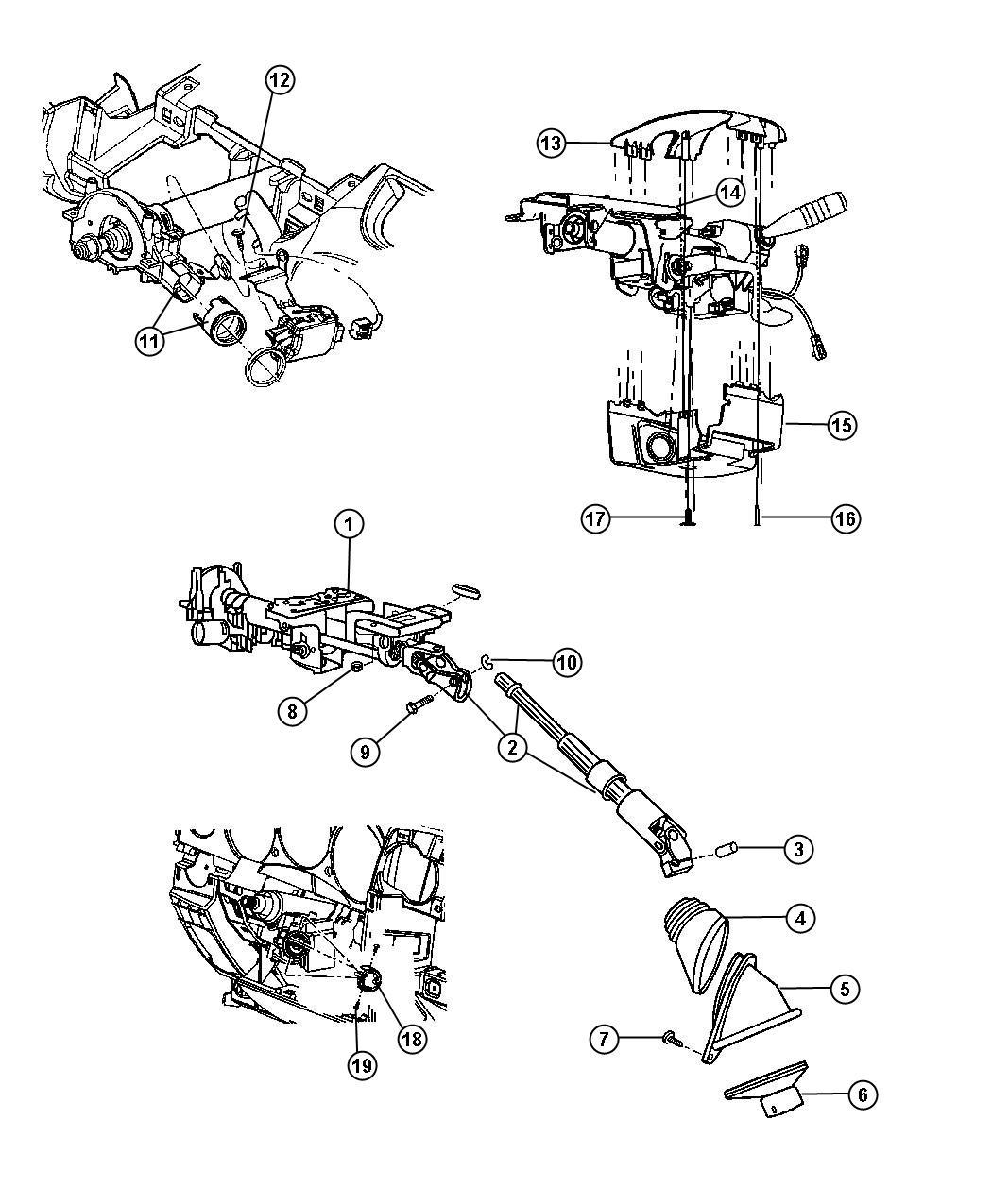 Chrysler Pt Cruiser Clip Steering Coupling Cplg