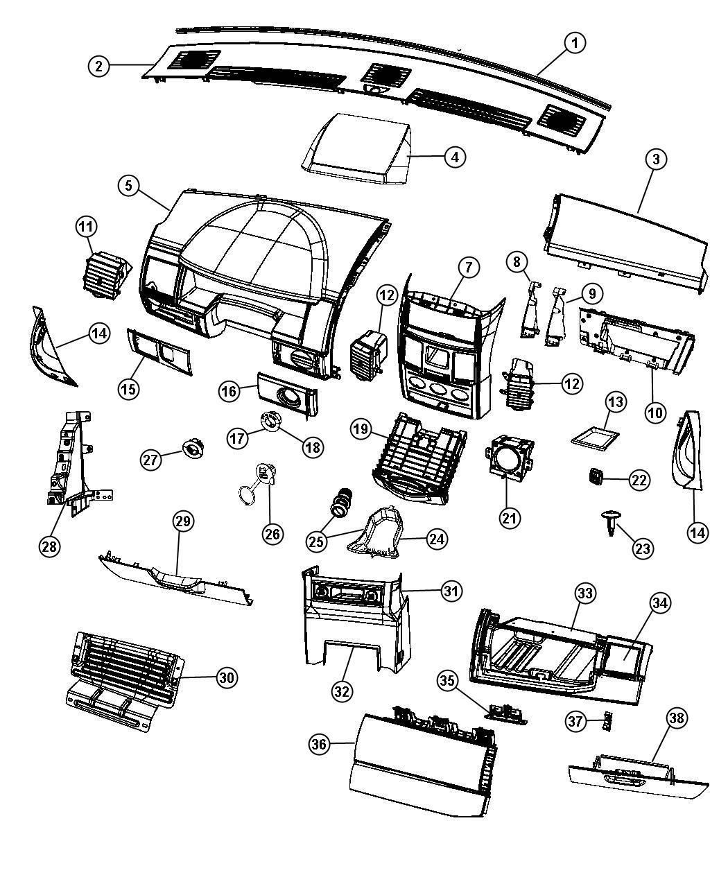 Dodge Grand Caravan Bezel Instrument Panel Ds