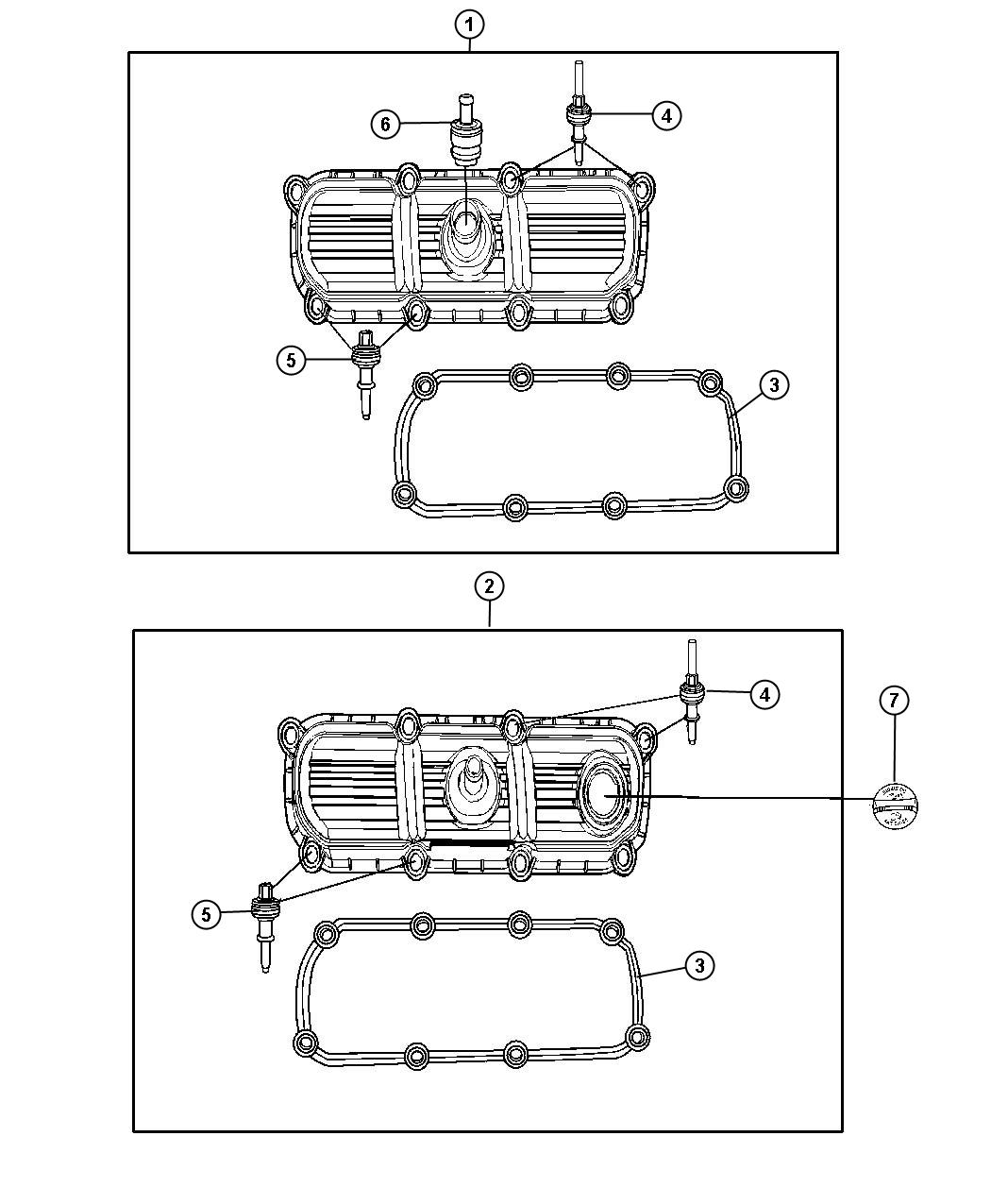 Jeep Commander Cover Cylinder Head Right Left Side