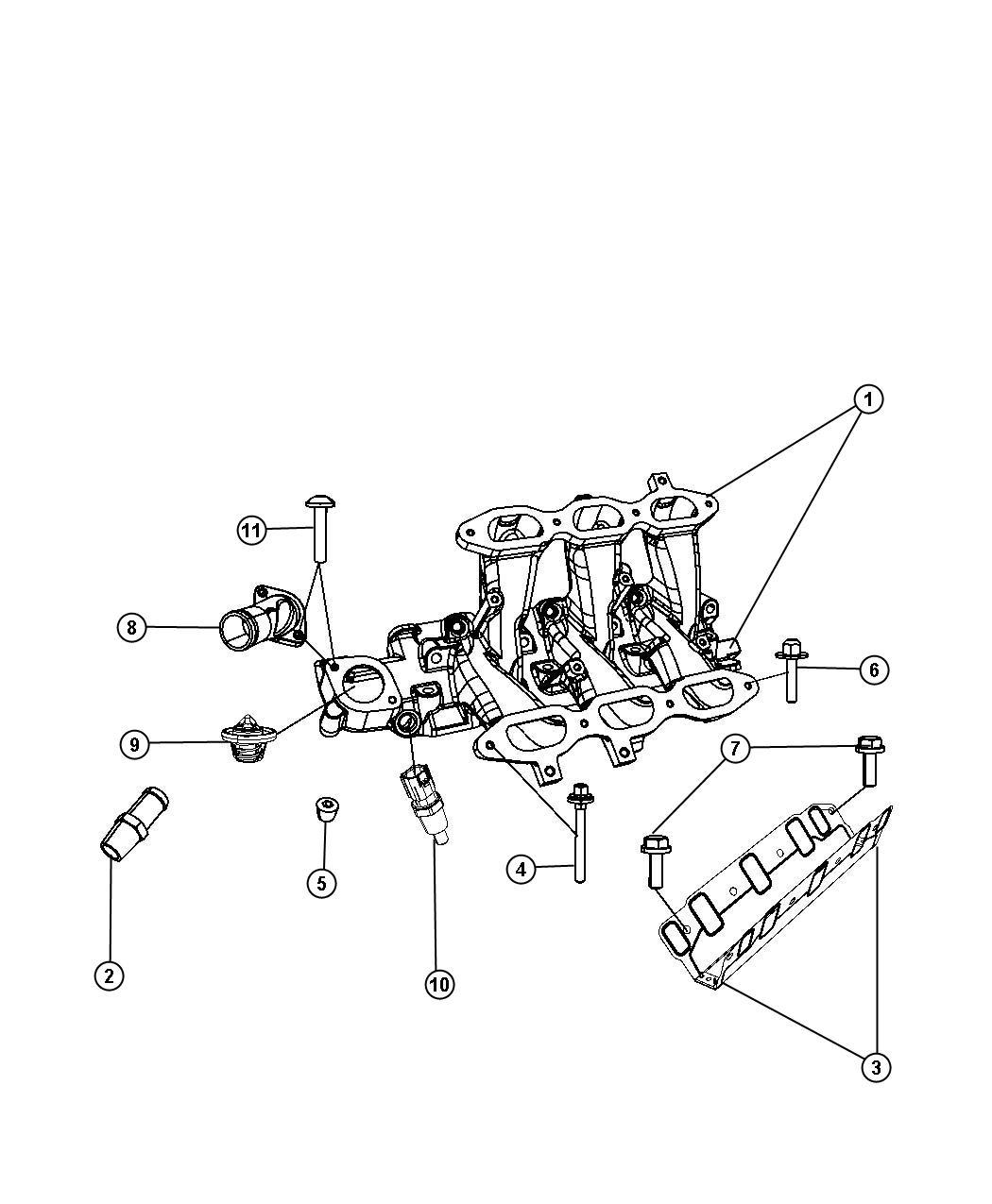 Dodge Grand Caravan Gasket Intake Manifold Lower