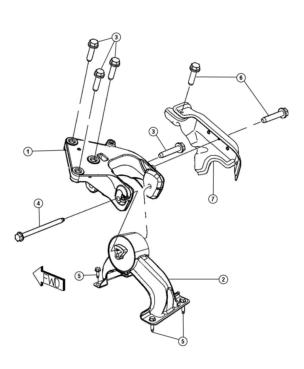 Chrysler Town Amp Country Engine Mount Support