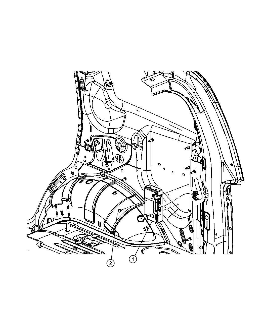 Chrysler Pt Cruiser Module Telematics With Attaching