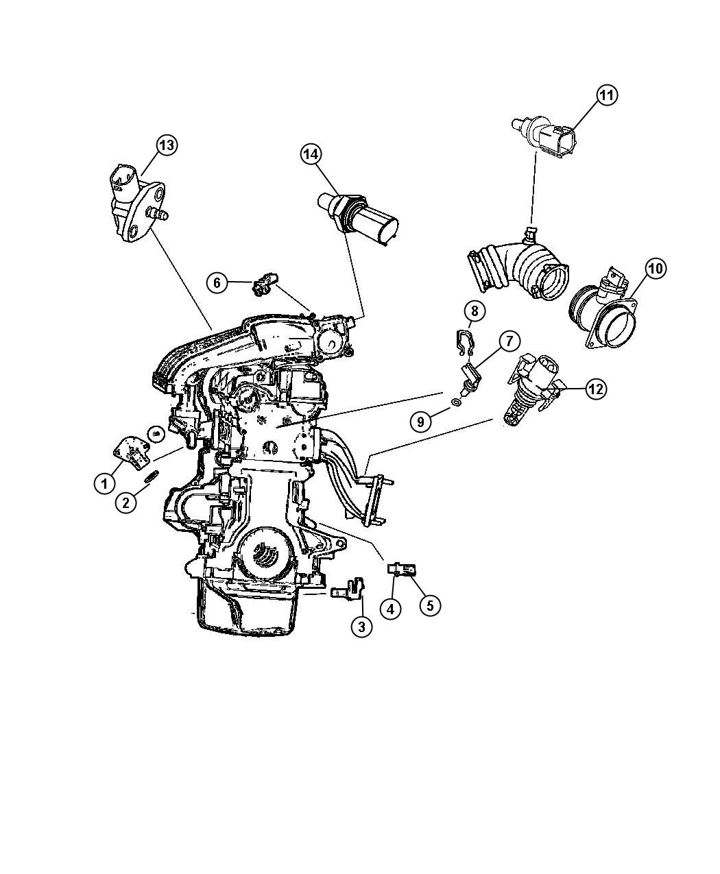 Dodge Ram Sending Unit Sensor Oil Level Oil