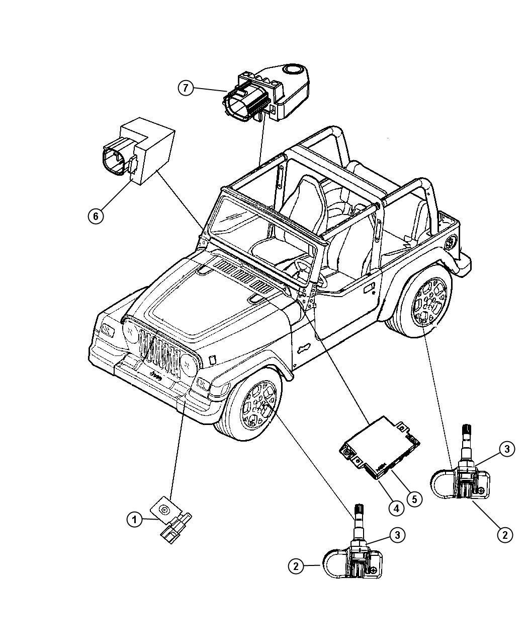 Jeep Wrangler Sensor Intrusion Module Console Security