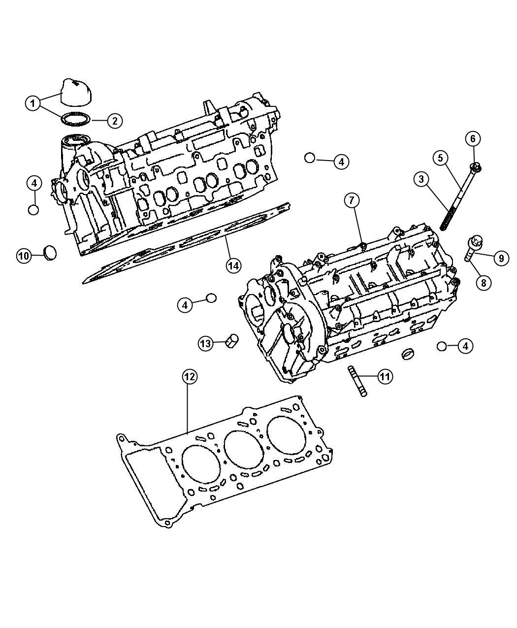 Dodge Sprinter Gasket Cylinder Headsel