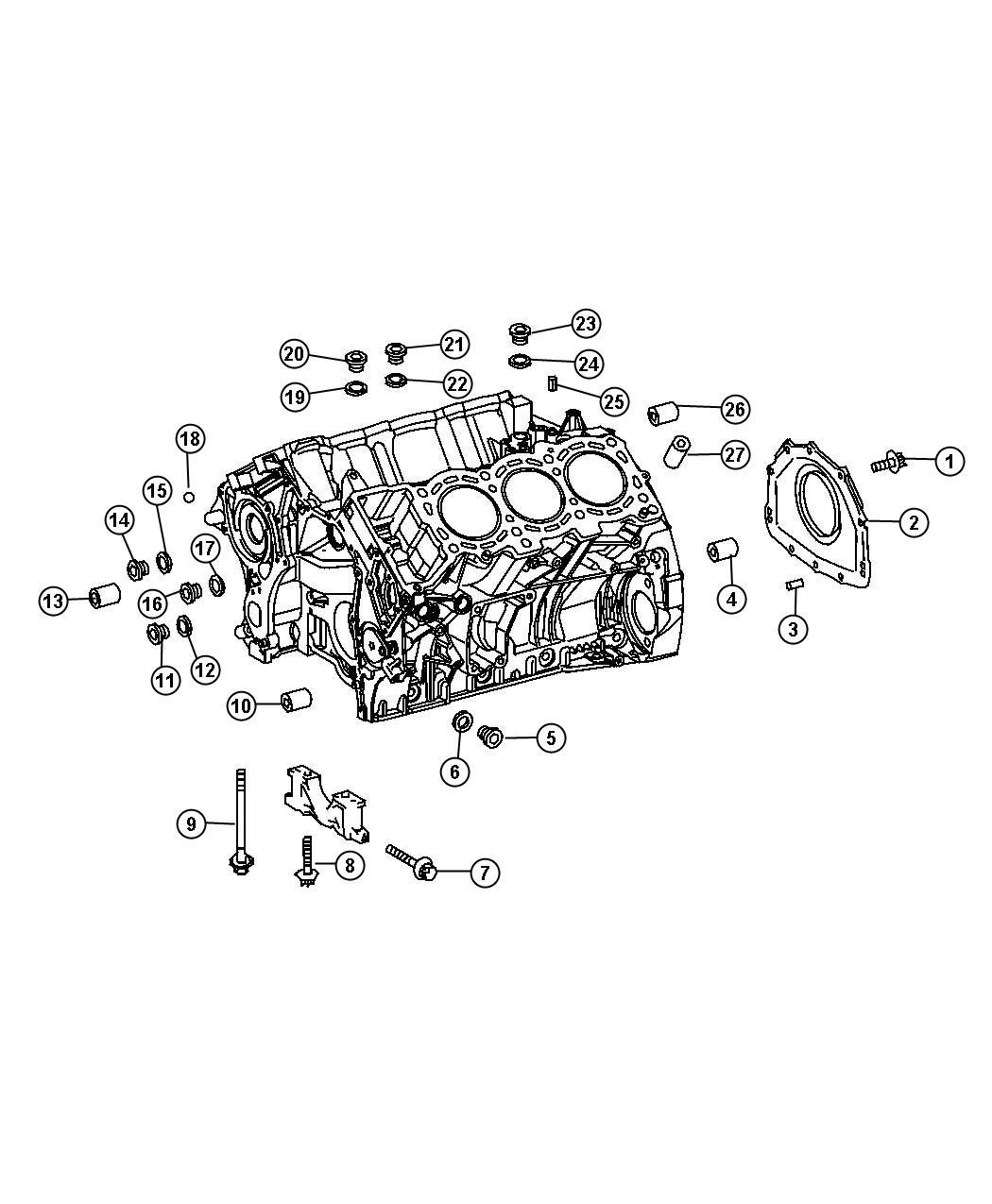 Jeep Grand Cherokee Dowel Pin Sleeve Cylinder Head
