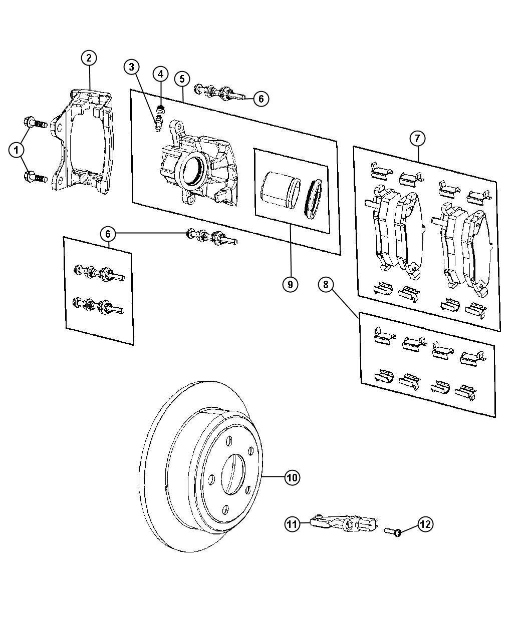 Jeep Liberty Pad Kit Rear Disc Brake Magneti