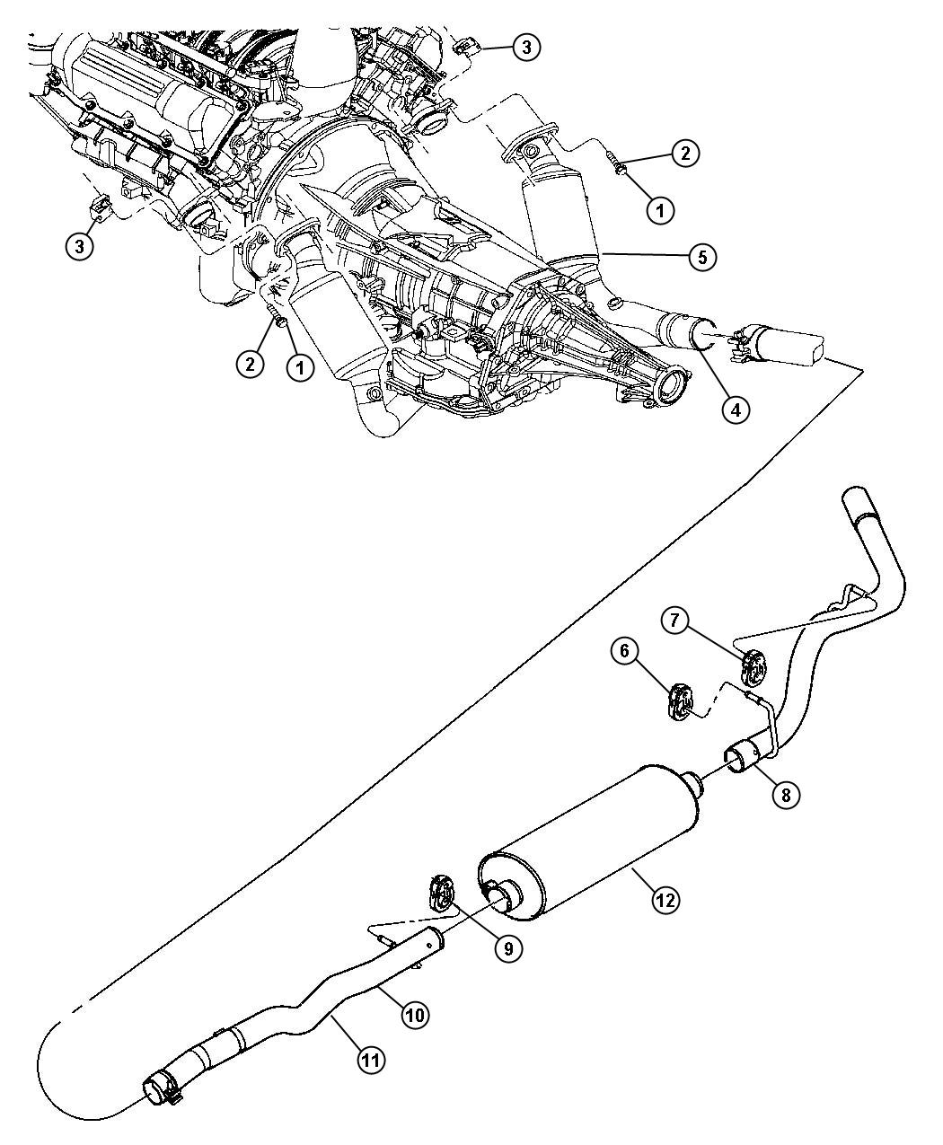 Dodge Dakota Used For Pipe And Resonator Used For