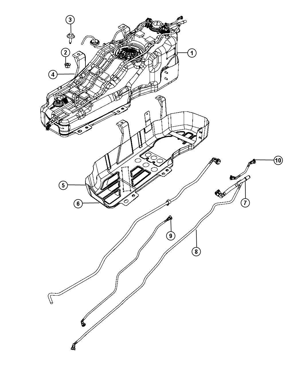 Jeep Liberty Tube Fuel Vapor Vapor Tank Gallon Plate