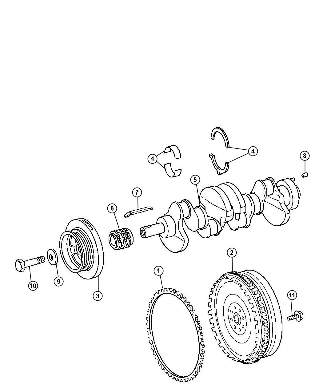 Dodge Sprinter Bearing Crankshaft Standard Thrust