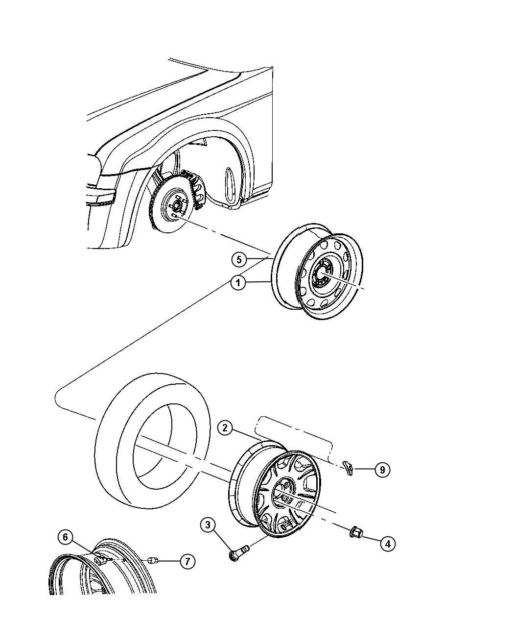 Dodge Charger Wheel Aluminum Color No Description