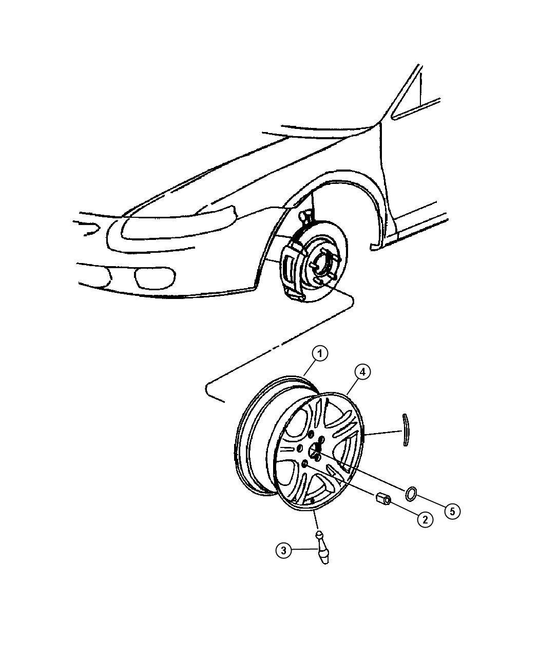 Chrysler Sebring Transponder Tire Pressure Left