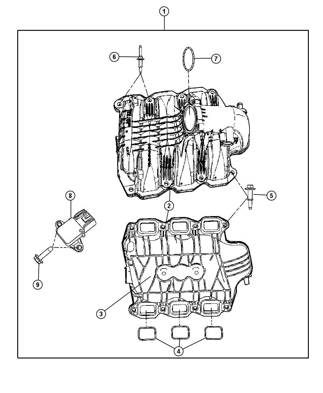 Jeep Commander Pad Engine Ekg Intake Manifolds