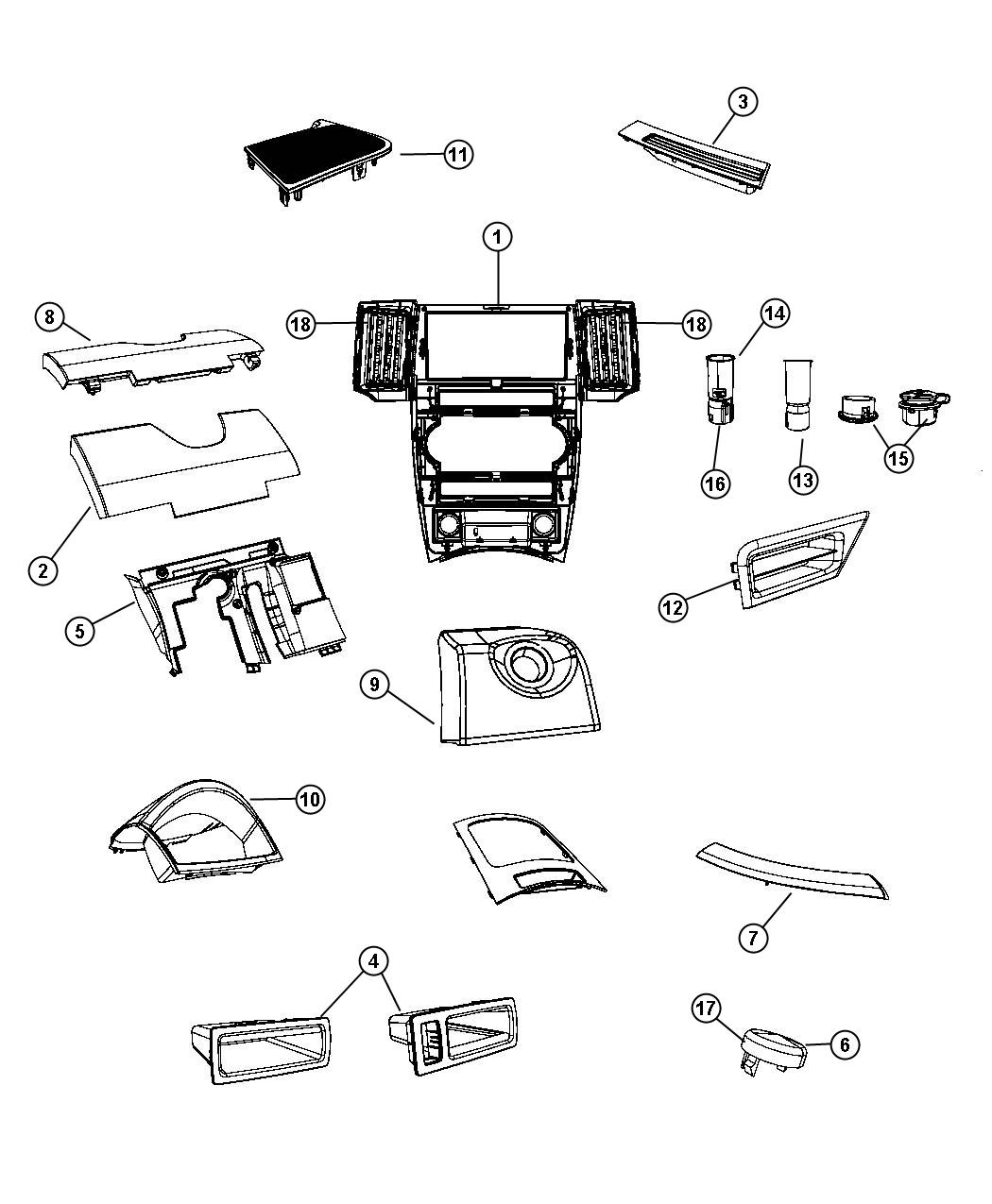 Jeep Grand Cherokee Bezel Cluster Trim All Trim Codes