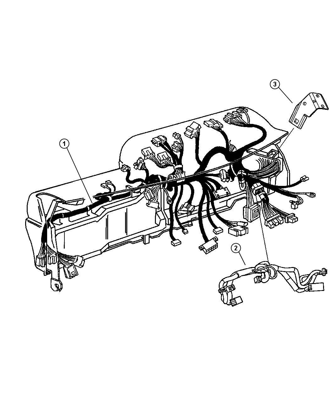 Dodge Ram Wiring Instrument Panel Air