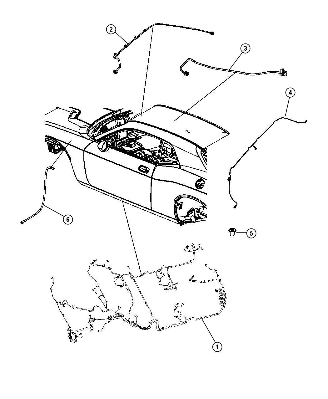 Dodge Challenger Wiring Rear Fascia Dual Rear