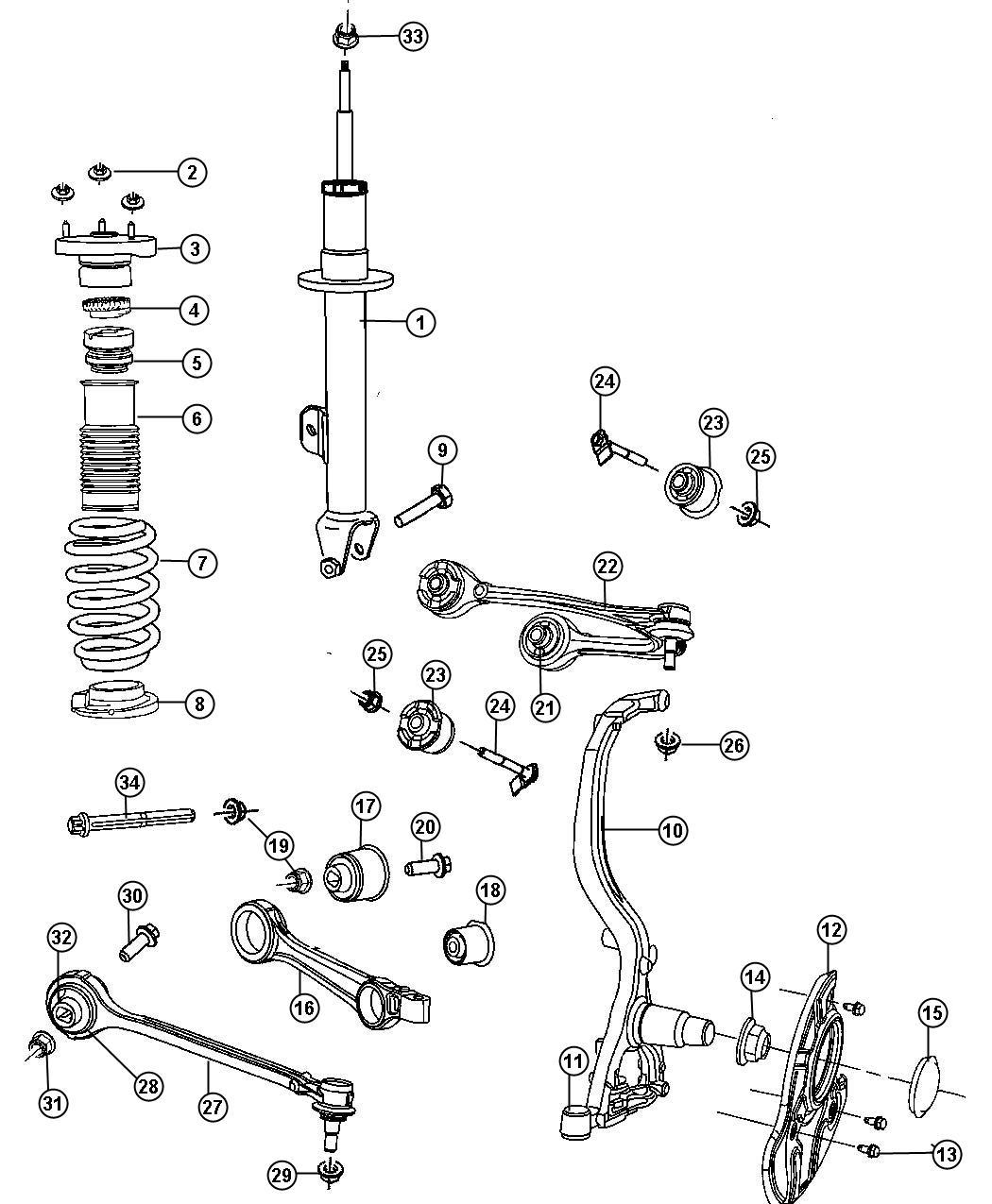 Dodge Magnum Shock Absorber Suspension 4 Whl Ind