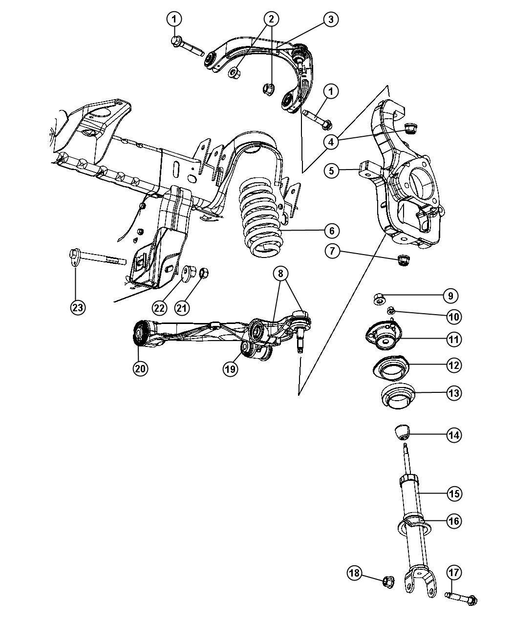 ram 1500 front suspension diagram