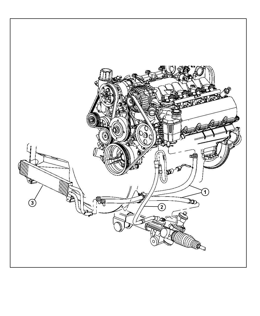 Dodge Ram Hose Power Steering Pressure Hoses