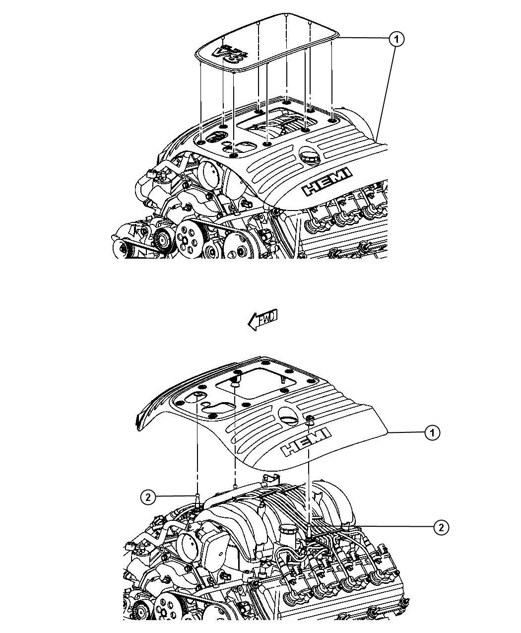 Jeep Commander Cover Engine Lower Ezb Hemi