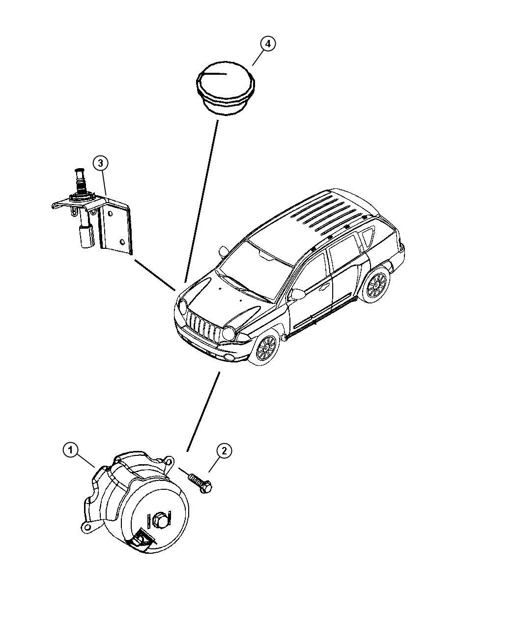 Dodge Caliber Cap Protective Security Alarm Siren