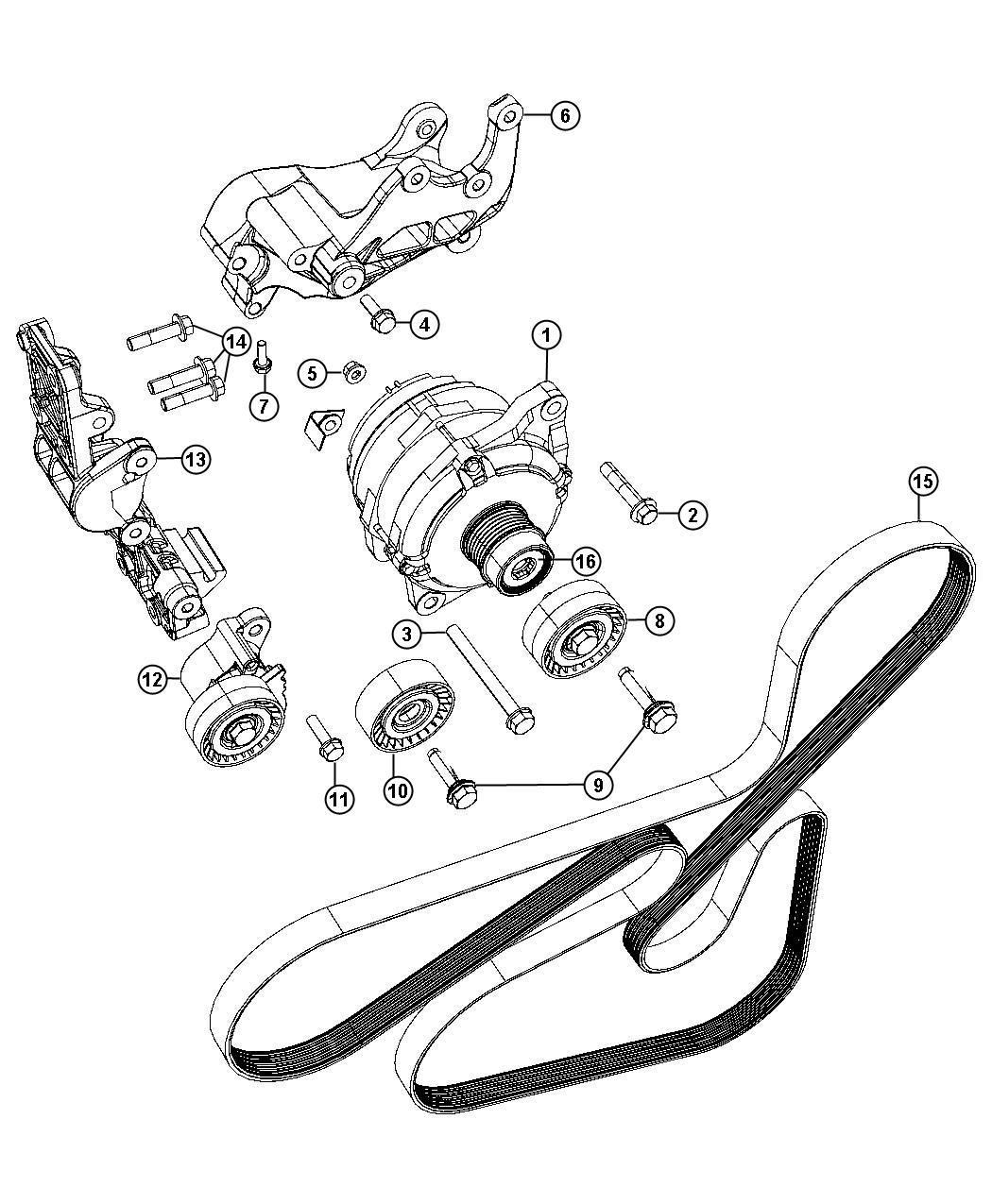 Chrysler Sebring Bracket Power Steering Pump Alternator