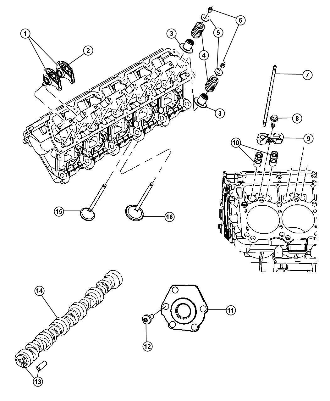 Dodge Viper Plate Camshaft Thrust Valvetrain Block