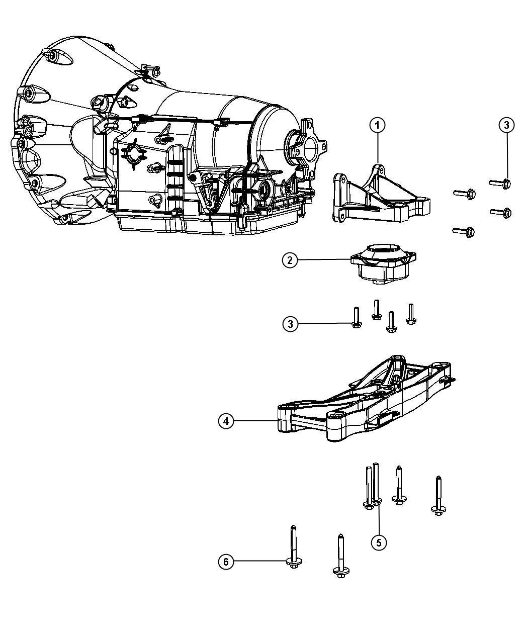 Dodge Challenger Mount Transmission Engine