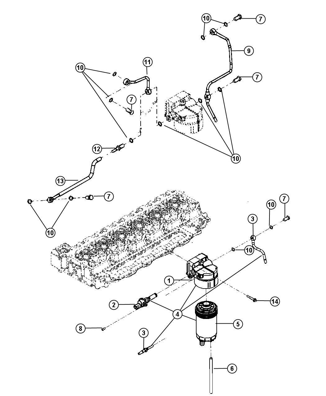 Dodge Ram Element Fuel Filter Emissions Used Past