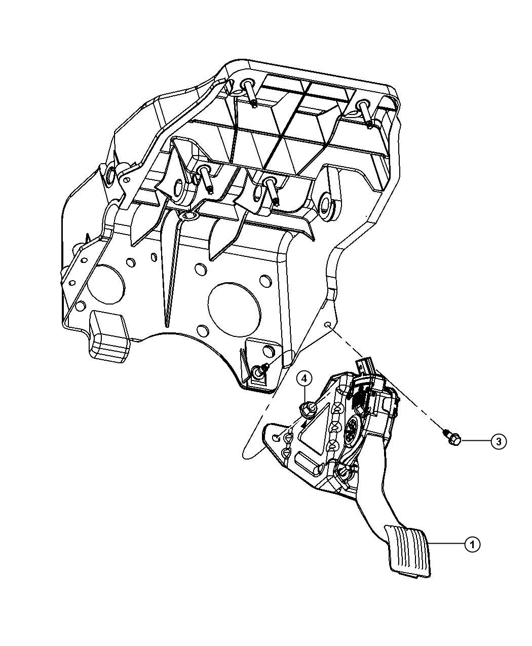 Dodge Ram Pedal Accelerator Non Adjustable