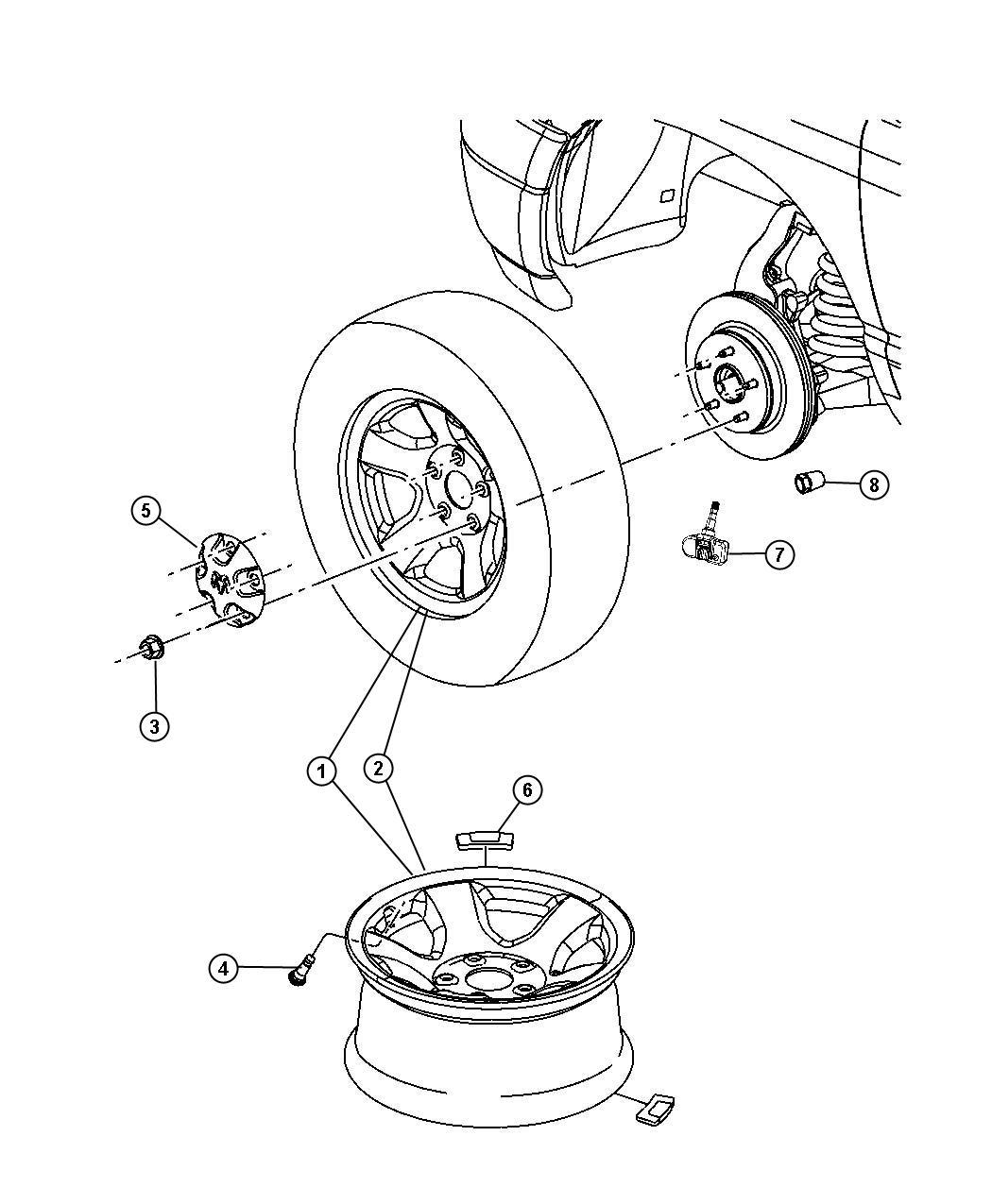 Dodge Ram Module Front Left Low Tire Pressure
