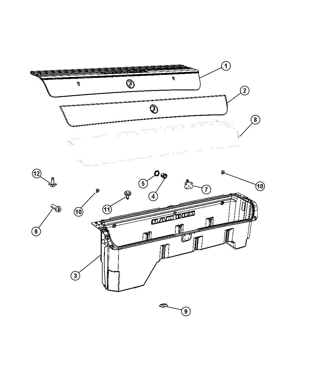Dodge Ram Door Storage Bin Right Box