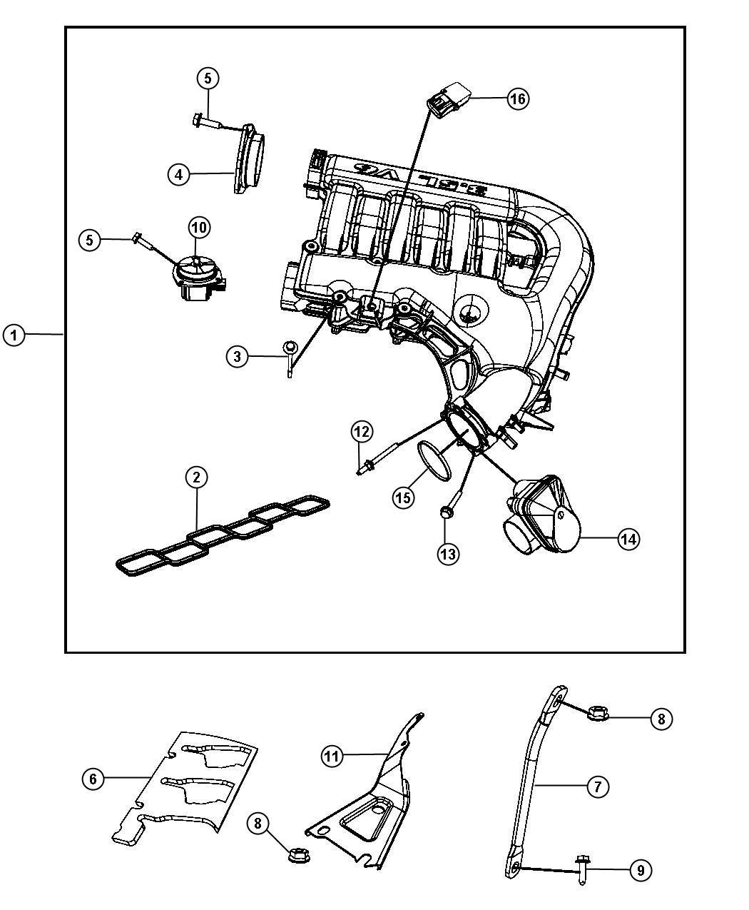 Chrysler 300 Throttle Body Intake Manifold Plenum