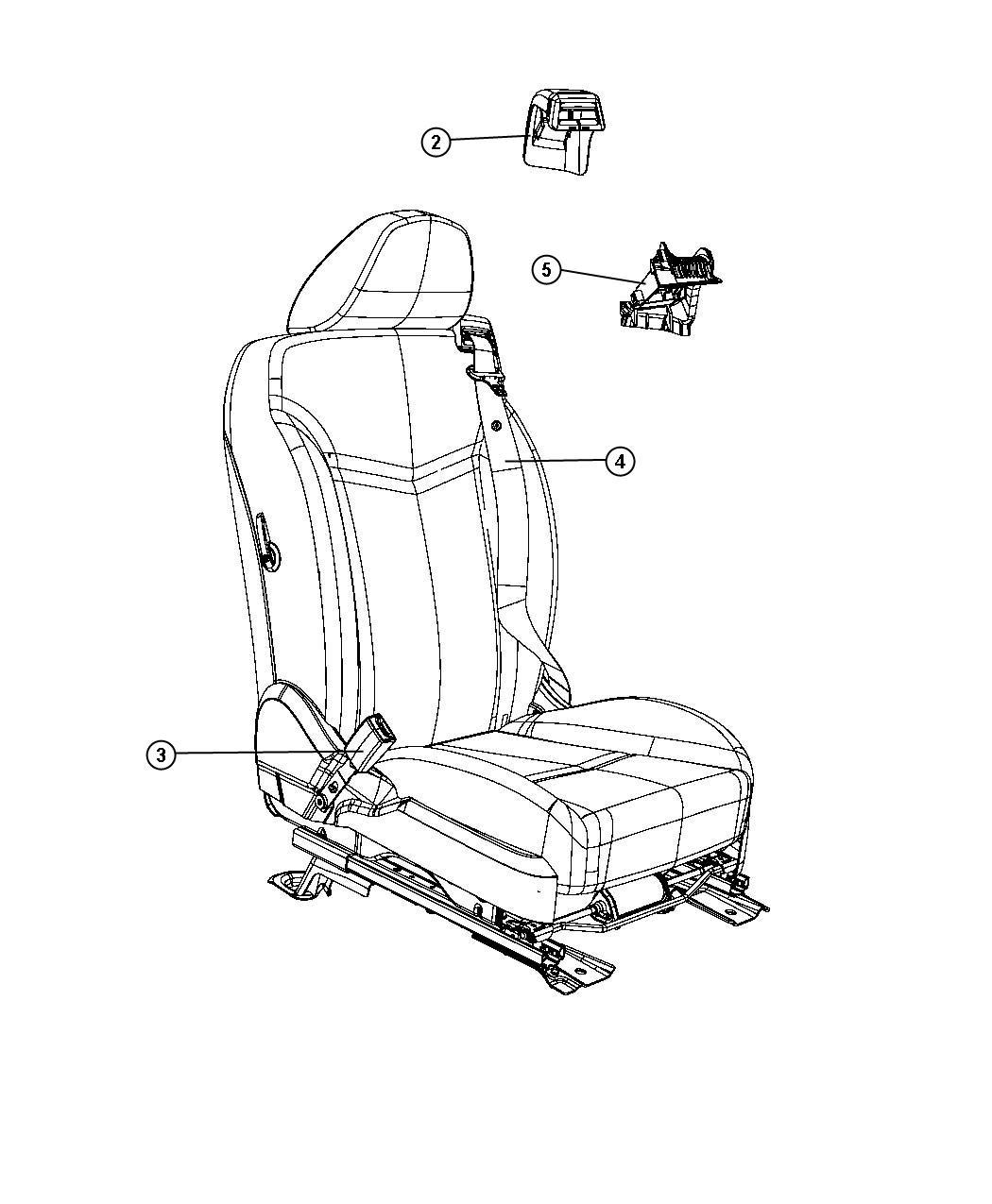 Chrysler Sebring Seat Belt Right Retractor J1