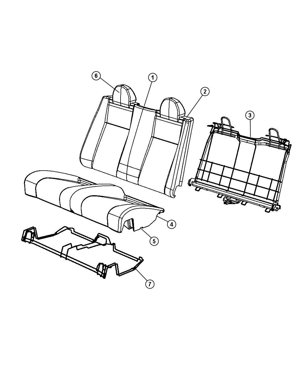 Chrysler Sebring Seat Back Rear Dv Export Dv