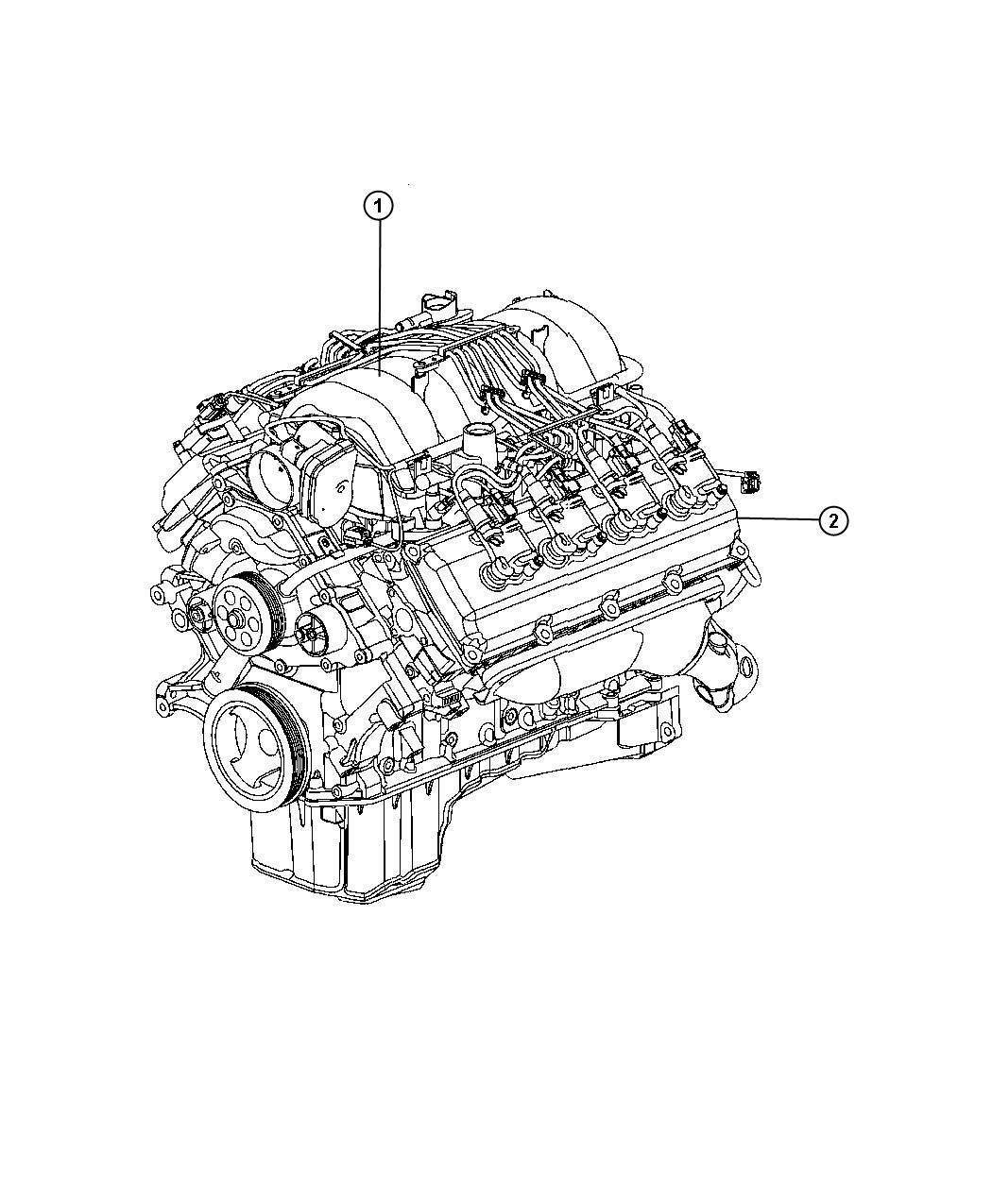 Chrysler 300 Engine Long Block Brazil Oil Pan
