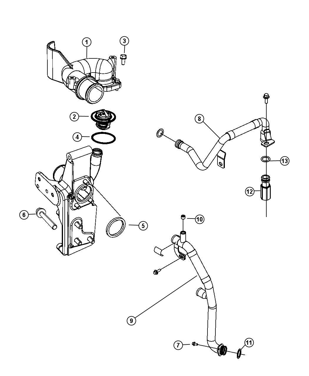 Dodge Ram Tube Water Outlet